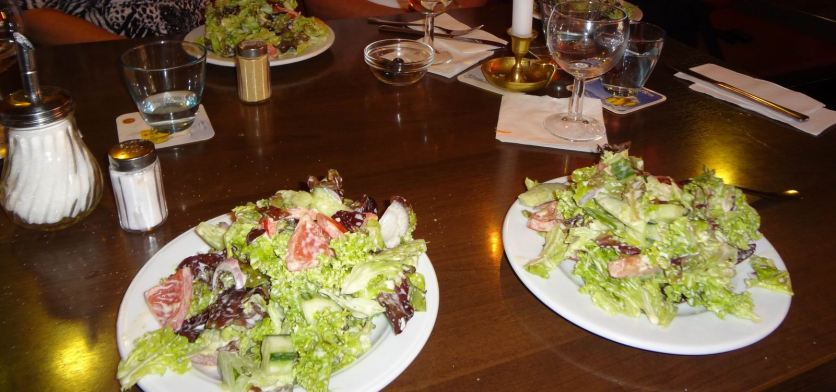 Two small side salads