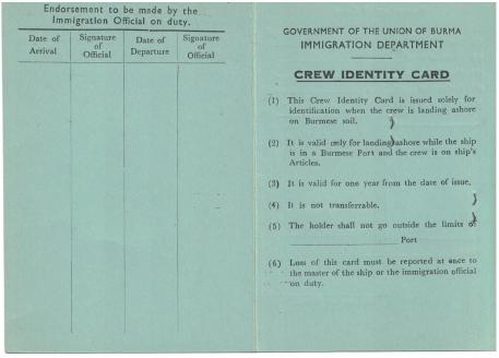 Burma ID card
