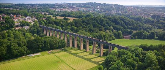 Pontcysyllte Aquaduct Llangollen Canal North Aerial Canals Water Transport