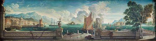 Rex_Whistler_-_Dining_Room_Mural_-_Capriccio_-_Plas_Newydd