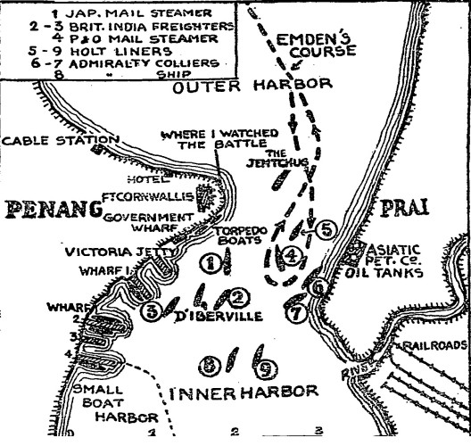 When_the_Emden_Raided_Penang,_Map,_fromThe_New_York_Times,_Dec