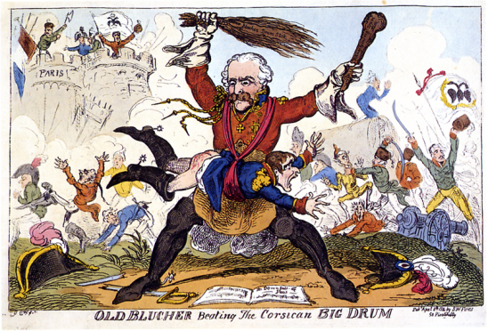 Cruikshank_-_Old_Blucher_beating_the_Corsican_Big_Drum