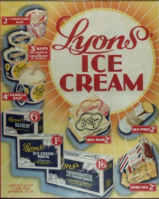 ICE CREAM - Lyons Ice Cream Poster