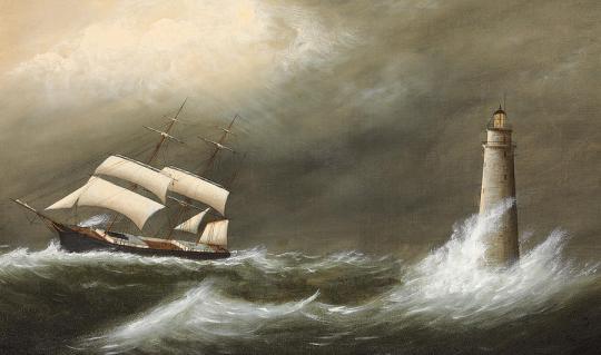 ships-passing-minots-light-clement-drew