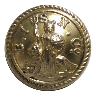 british-india-steam-navigation-company---roped-rim-215mm---unlined--gilt-merchant-navy-or-shipping-uniform-button