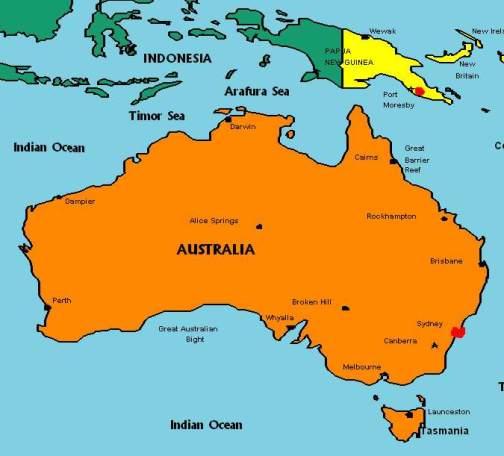 australia-oceania-map